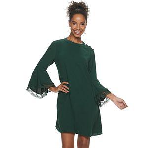 Women's Hailey Lyn Bell Sleeve High-Low Hem Dress