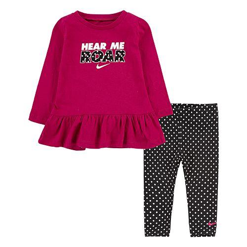 Baby Girl Nike Peplum Tunic Top & Leggings Set