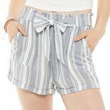 Juniors' SO® Paperbag Shorts