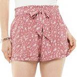 Juniors' SO® Paperbag Shorts