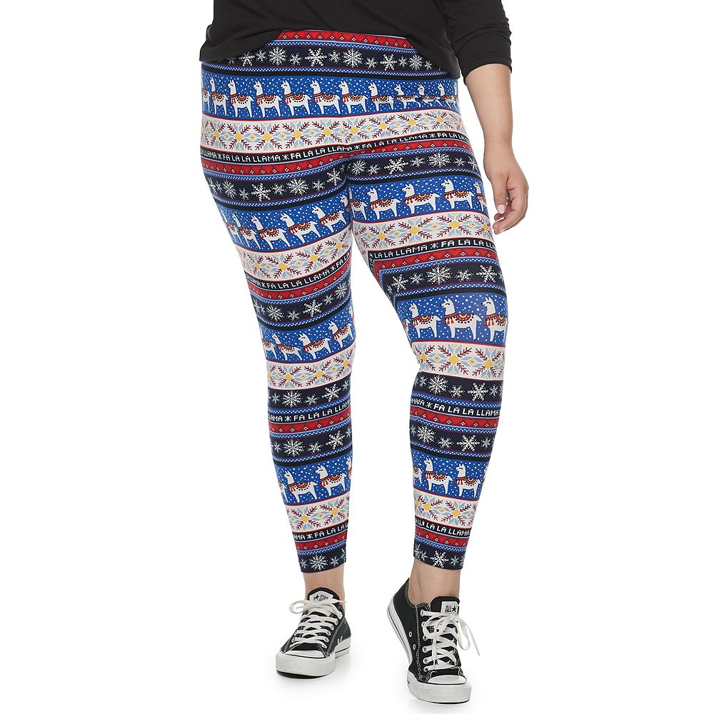 Juniors' Plus Size SO® Mid-Rise Kitschy Leggings