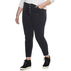 Juniors' Plus Size Unionbay Stretch Corduroy Skinny Ankle Pants