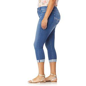 Juniors' Plus Size WallFlower Luscious Curvy Crop Jeans