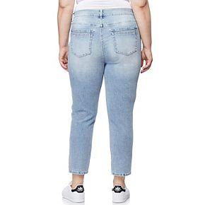 Juniors' Plus Size WallFlower Distressed Tomboy Jeans