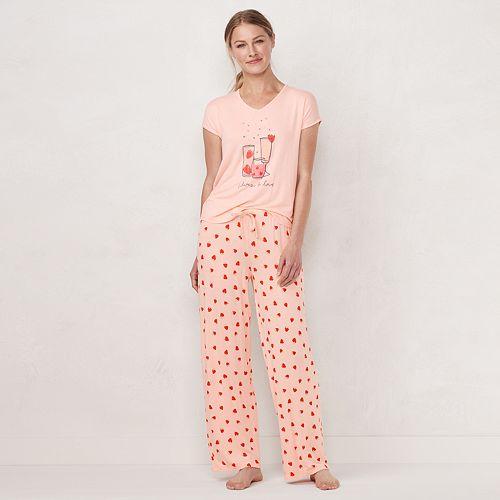 Women's LC Lauren Conrad Graphic Pajama Top & Pajama Pants Set