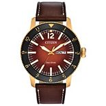 Citizen Eco-Drive Men's Brycen Leather Watch - AW0076-03X