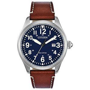 Citizen Eco-Drive Men's Chandler Military Leather Watch - BM6838-17L