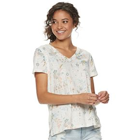 Juniors' Mudd® Burnout Short Sleeve Tee