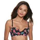 Candie's® Bra: Lace Push-Up Balconette Bra