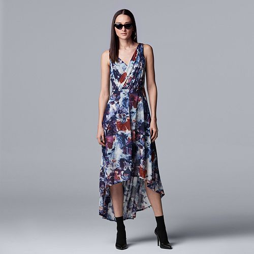 Women's Petite Simply Vera Vera Wang Floral High-Low Hem Dress