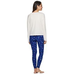 Juniors' SO Drop Shoulder Top And Legging Pajama Set