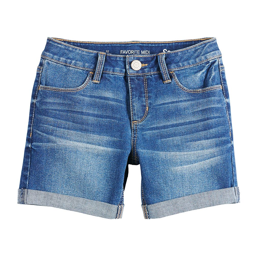 Girls 7-16 & Plus Size SO® Midi Denim Shorts
