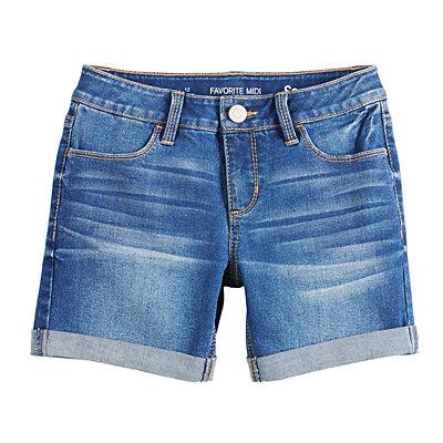 Girls 7-16 & Plus Size SO® Midi Denim Shorts