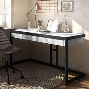 Simpli Home Erina Modern Industrial Writing Office Desk