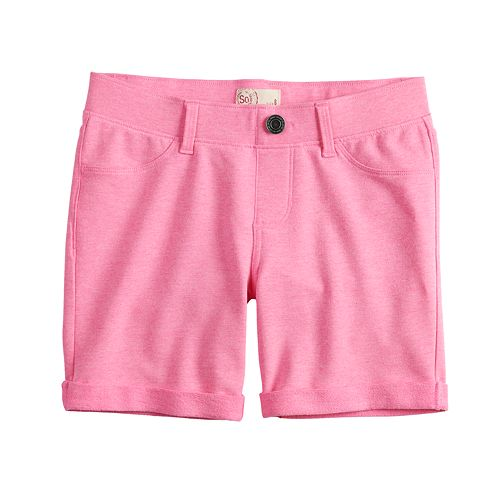 Girls 7-16 SO® Pull On Midi Shorts