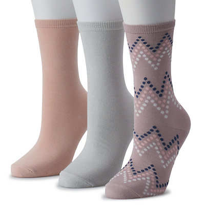Women's SONOMA Goods for Life? 3-Pack Gradient Chevron Crew Socks