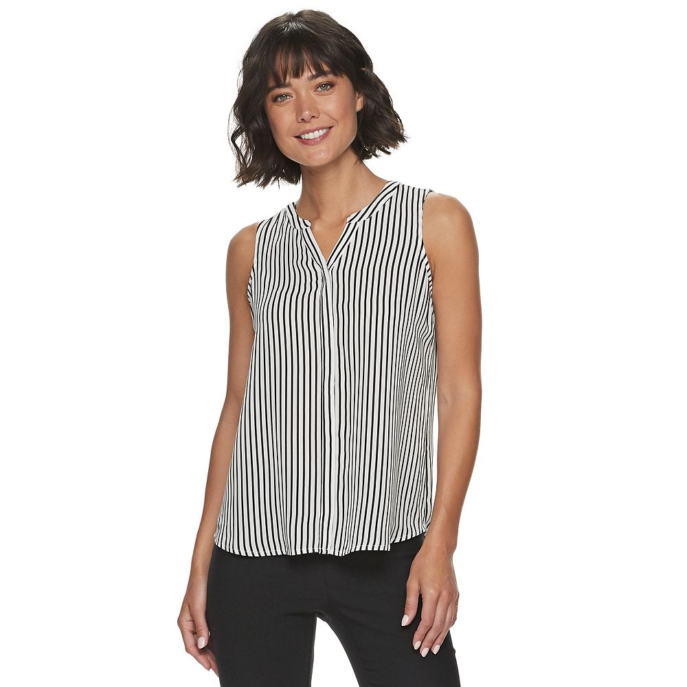 Petite Apt. 9® Essential Pleat Back Sleeveless Blouse