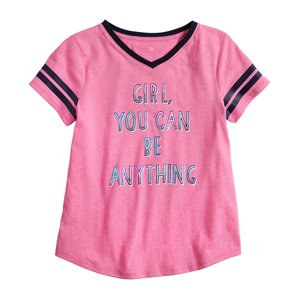 Girls 7-16 & Plus Size SO® Sporty Graphic Tee