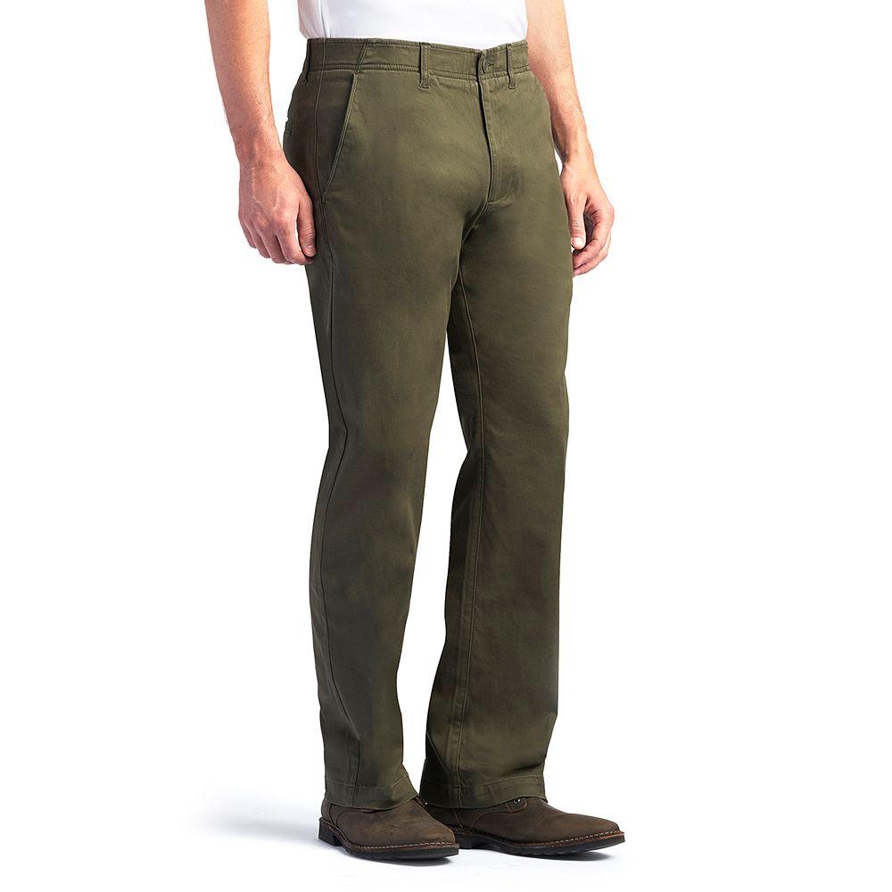 Men's Lee® Performance Series Extreme Comfort Khaki Straight-Fit Flat-Front Pants