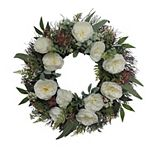 SONOMA Goods for Life® Artificial White Rose and Succulent Wreath