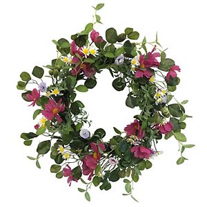 SONOMA Goods for Life Artificial Cosmos Daisy Greenery Wreath