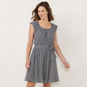 Women's LC Lauren Conrad Pleat Neck Dress