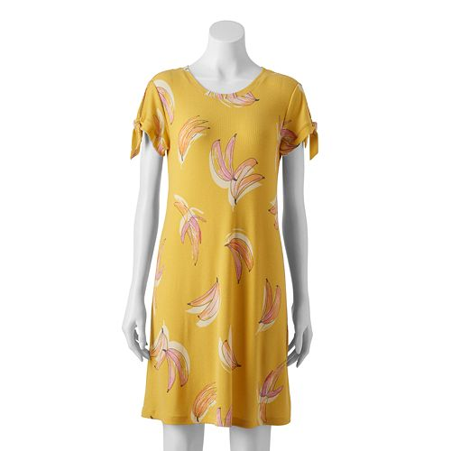 Women's LC Lauren Conrad Knot-Sleeve Swing Dress
