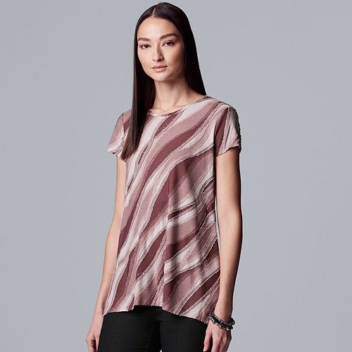 Women's Simply Vera Vera Wang Texture Tee