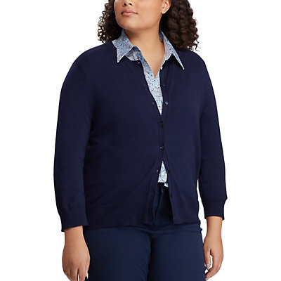 Plus Size Chaps Cardigan