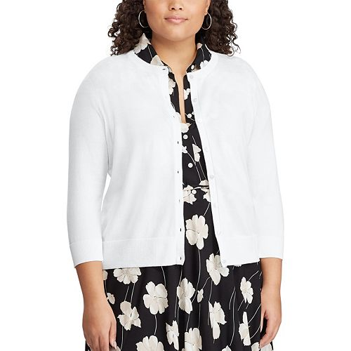 Plus Size Chaps Cardigan