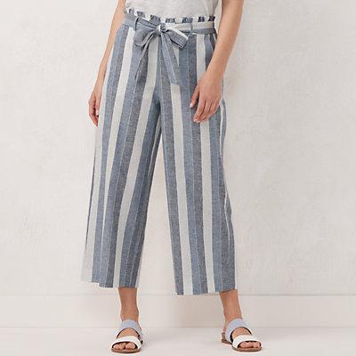 Petite LC Lauren Conrad Wide-Leg Crop Pants