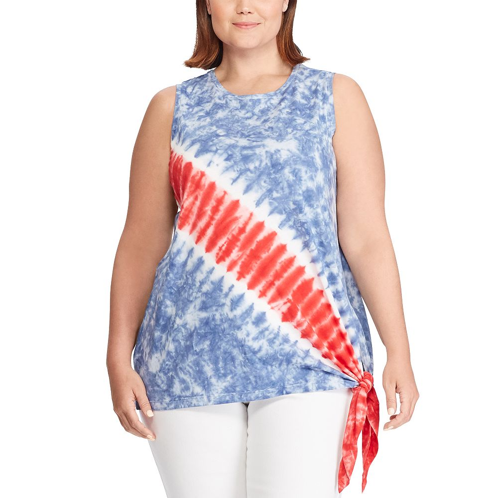 Plus Size Chaps Americana Sleeveless Top