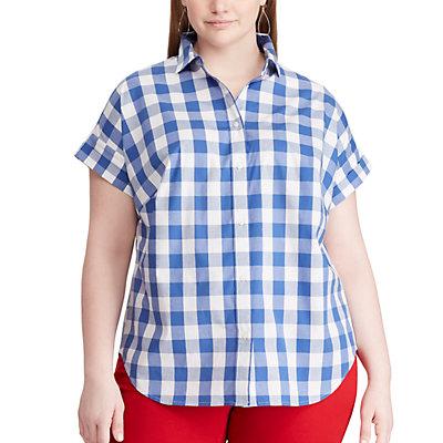 Plus Size Chaps Short Sleeve Cuffed Shirt