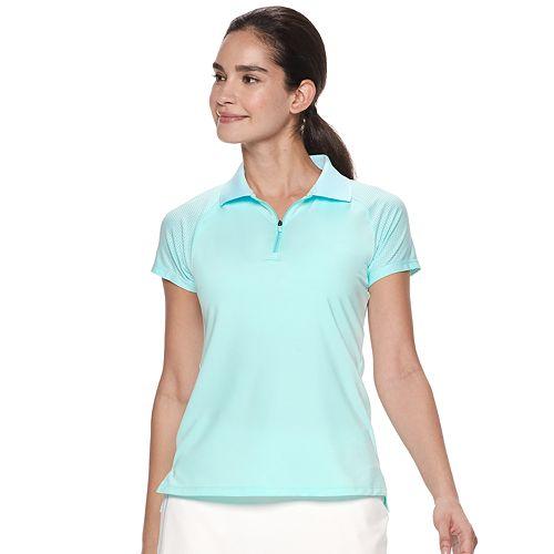 Women's FILA SPORT® Zip Front Golf Polo