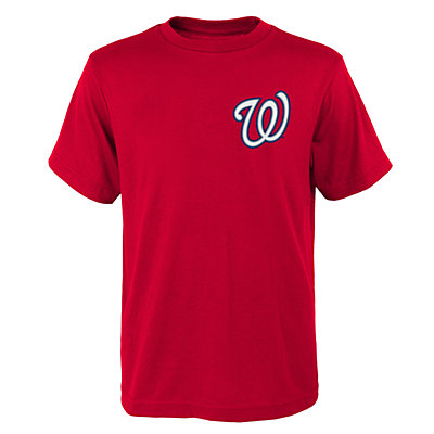 Boys 4-18 Majestic Washington Nationals Bryce Harper Player Name and Number Tee