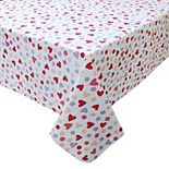 Celebrate Valentine's Day Together Vinyl Heart Tablecloth
