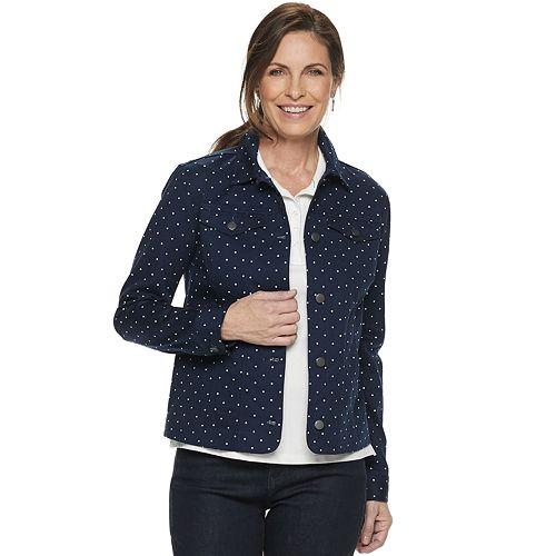 Women's Croft & Barrow® Button-Down Jacket