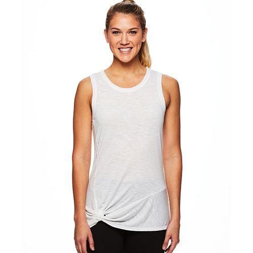 Women's Gaiam Twist Front Yoga Tank