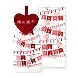 Celebrate Valentine's Day Together Heart Tie Top Kitchen Towel 2-pk.
