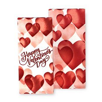 2-Pack Happy Valentine's Day Kitchen Towel