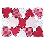 Celebrate Valentine's Day Together Cut-Out Heart Placemat