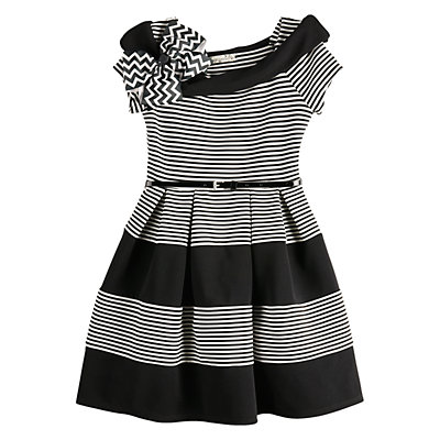 Girls Knitworks Skater Dress/SS Stripe Marylin Skater Dress/Belt