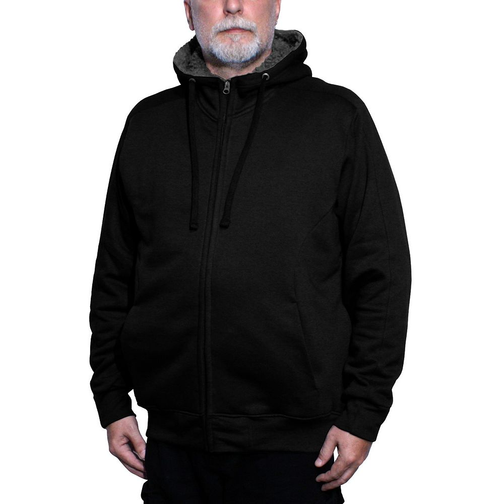Big & Tall Franchise Club Avalanche Sherpa-Lined Fleece Full-Zip Hoodie