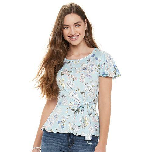 Juniors' Candie's® Faux Wrap Top