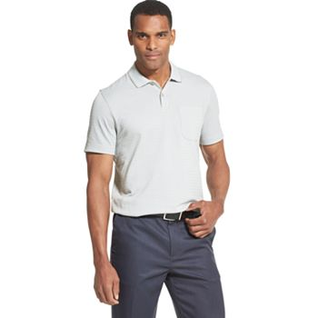 Van Heusen Men's Flex Short Sleeve Stretch Stripe Polo Shirt only $5.50
