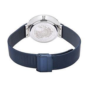 BERING Men's Solar Black Stainless Steel Mesh Watch - 14639-307