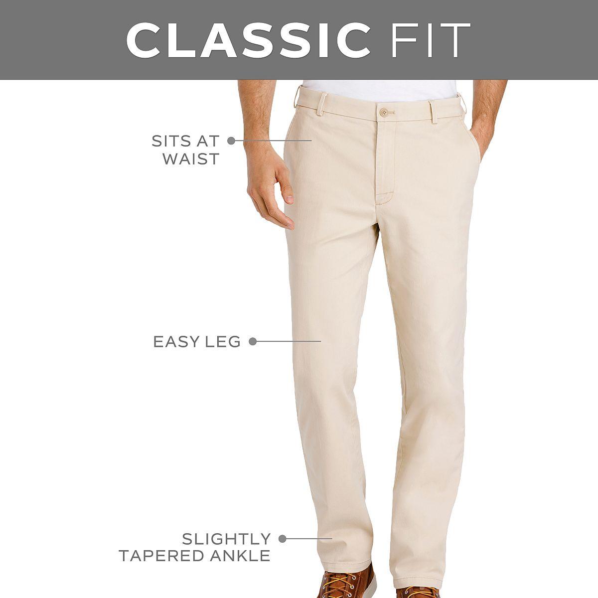 Men's IZOD Saltwater Classic-Fit Stretch Pants Pale Khaki k9fur