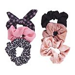 SO® Pink Plaid Scrunchie Set