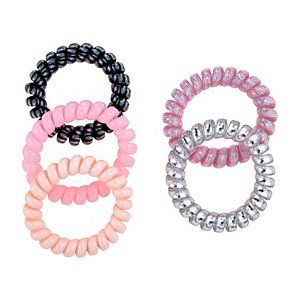 SO® Pink Glitter Hair Coil Set