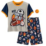 Boys 4-12 Up-Late Born To Play 2-Piece Pajama Set